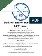 camp bosco flyer