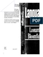 Bloomfield L Language and Linguistics