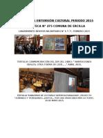 Actividades Culturales Periodo 2015