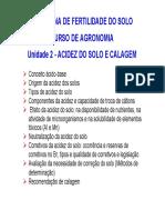 Unidade 2 - Acidez e Calagem Agronomia