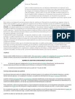 Normas Internacionales de Auditoria en Venezuela CLAIRET