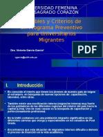 Variables y Criterios de Un Programa Preventivo Para Universitarios Migrantes (1)
