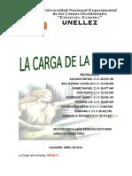 Trabajo Derecho Probatorio La Carga de La Prueba. Puntos Para La Exposicion