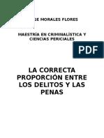 Investigacion de La Correcta Proporcion Entre Pena y Delitio