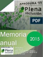 MEMORIA 2015 Aprosuba 11