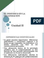 El Individuo en La Organización
