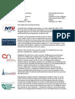 Tax Reform Coaltion Letter