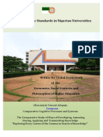 Academic Standards in Nigerian Universities Within the Global Context of Economics and Philosophies of Higher Education