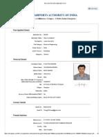 AAI Junior Executive Application Form