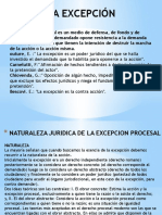 Expo Procesal Excepcion