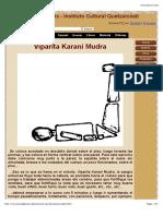 Vipartita Karani Mudra. Prácticas de Gnosis