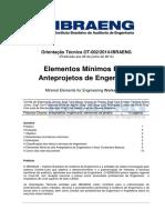 IBRAENG Elementos Mínimos Para Anteprojetos de Engenharia1