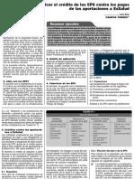Conozca Cómo Aplicar El Crédito de Las EPS Contra Los Pagos de Las Aportaciones a ESSALUD