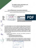 Acta de Presentacion y Evaluacion de Propuestas Consurso Privado n01