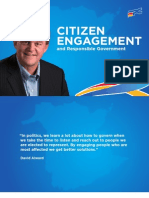 Citizen Engagement and Responsible Government