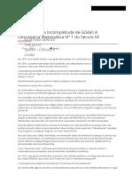 O Teorema Da Incompletude de Gödel_ a Descoberta Matemática Nº 1 Do Século XX
