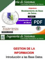 Clase 01 de Modelamiento de Base de Datos 2015 - 2