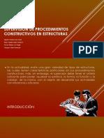 Proceso constructivo en estructuras