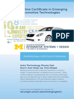 Online Certificate in Emerging Automotive Technology Brochure