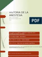 Historia de La Anestesia