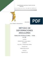 Viga N°18 - Método de Deformaciones Angulares