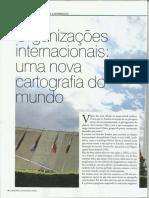 Organizações Internacionais . Uma Nova Cartografia Do Mundo