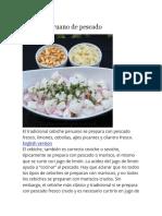 Cebiche Peruano de Pescado