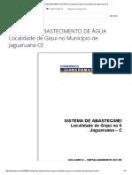 ⭐SISTEMA DE ABASTECIMENTO DE ÁGUA Localidade de Giqui no Município de Jaguaruana CE