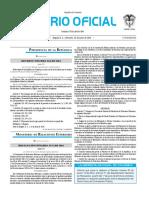 Diario oficial de Colombia n° 49.912. 22 de junio de 2016