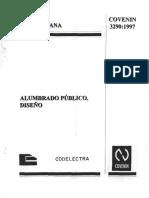 Covenin 3290-97 Diseño de Alumbrado Publico