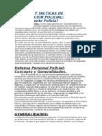 Tecnicas y Tacticas de Intervencion Policial