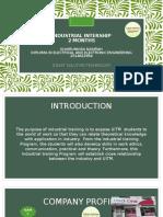 Presentation for Intership
