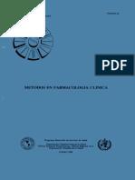 Metodos en Farmacologia Clinica
