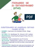 (Stai) Cuestionario de Ansiedad Estado Rasgo