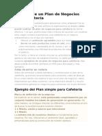 plan de negocios cafeteria