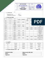 Gt - 1 Bushing Current Transformer Ir Test Report