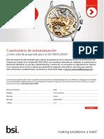 ISO 9001 Cuestionario de Autoevaluacion