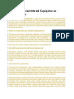 Pengertian Administrasi Kepegawaian Secara Umum.doc