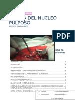 Hernia Del Nucleo Pulposo Informe Cristina Morales