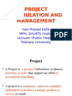 Project Formulation and Management