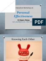Personal Effectiveness Workshop IST May 24 26,2016