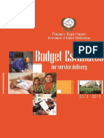 Budget Estimates for Service Delivery (2012-15) 12 June 2012 (Final Version)
