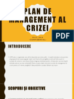 Plan de Management Al Crizei CRP 3