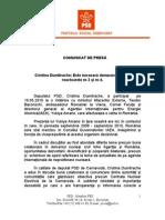 PSD - Comunicat Deputat Cristina Dumitrache 20.05