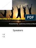 Leadership in Turbulent Times-Role of Youth