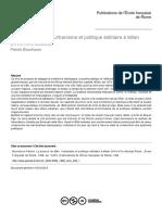 Le Pouvoir de Bâtir. Urbanisme Et Politique Édilitaire à Milan, 14- 15 Es