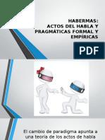 Habermas, Actos de Habla y Pragmaticas Formal y Empirica