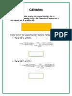 cálculos de fisico quimica