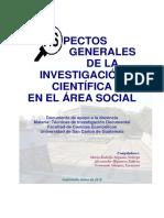 Aspectos GeneraAspectos Generales de la Investigacion Cientificales de La Investigacion Cientifica