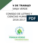 Plan de Trabajo Franja Verde Consejo de Letras